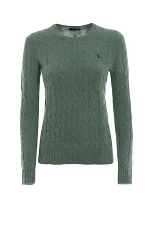 Cable knit merino and cashmere sweater POLO RALPH LAUREN | 1 | 211525764052