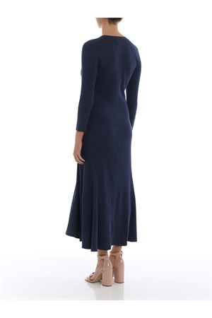 Knit cotton blend flared dress