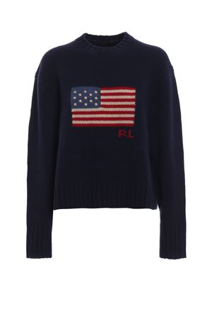 American flag intarsia wool boxy sweater POLO RALPH LAUREN | 1 | 211716674001