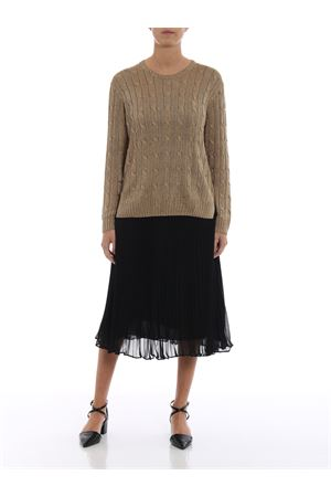 Gold lurex viscose yarn sweater POLO RALPH LAUREN | 1 | 211717103002