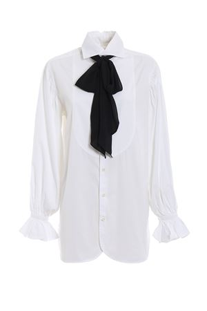 Cotton long shirt with black scarf POLO RALPH LAUREN | 6 | 211718013001