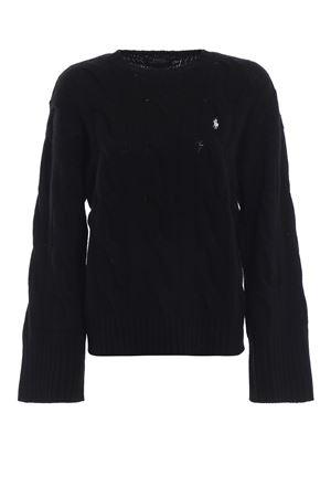 Twist knit merino sweater with wide sleeves POLO RALPH LAUREN | 1 | 211726832004