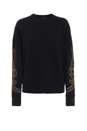 Rope embroidery cotton fleece over sweatshirt POLO RALPH LAUREN | -108764232 | 211729793001