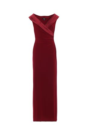 Draped garnet gown with satin shawl collar POLO RALPH LAUREN | 11 | 253585091006