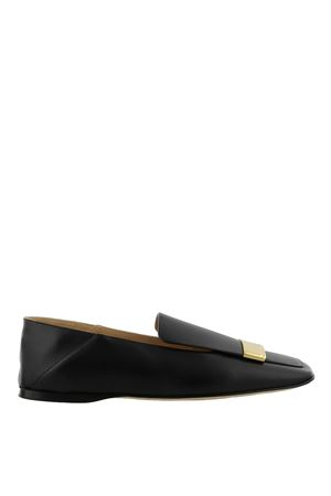 Loafers with golden logo plaque SERGIO ROSSI | 5032263 | A77990MCAR021000170