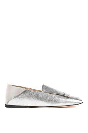 Sr1 silver leather slippers SERGIO ROSSI | 5032263 | A77990MFN4388198170