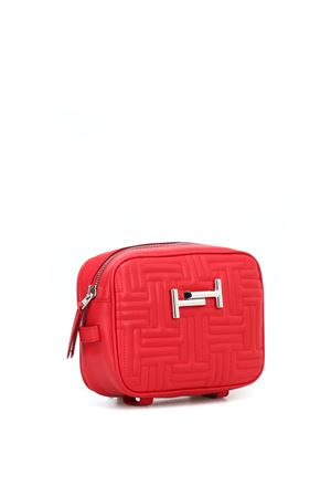 Double T red quilted leather camera bag TOD