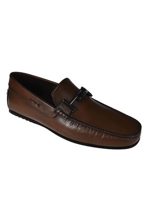 Double T brown leather loafers TOD