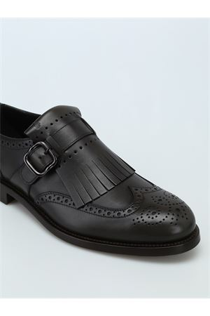 Monk strap in leather TOD
