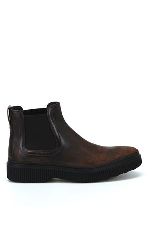 Used effect leather Chelsea boots