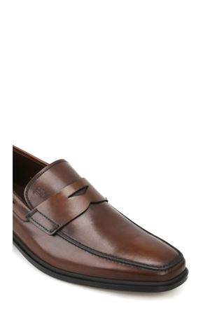 Rubber sole classic leather loafers TOD