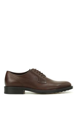Dark brown leather Derby shoes TOD