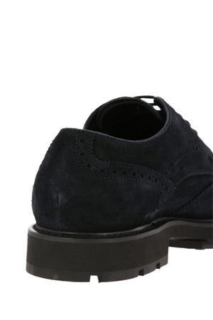 Brogue lace-up blue suede shoes TOD