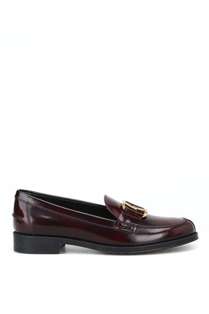 Double T oval horsebit burgundy loafers TOD