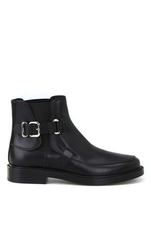 Ankle boots in leather TOD