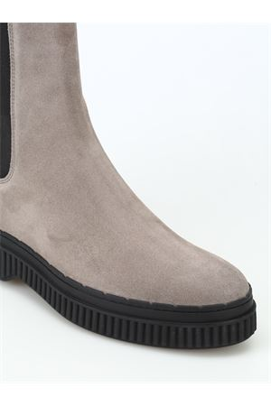 Pull-on suede ankle boots with pebbles TOD