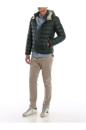 Semi-matte puffer jacket with removable hood