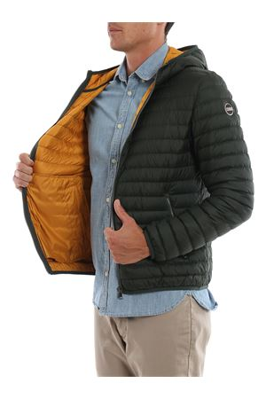High tech fabric hooded puffer jacket
