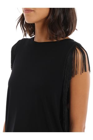 Fringed jersey tank top