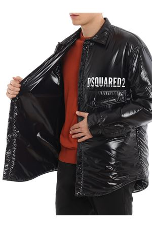 Shirt style padded jacket