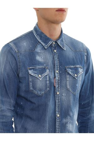 Ripped stonewashed shirt DSQUARED2 | 6 | S74DM0301S30341470