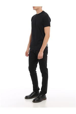 Rear maxi print black T-shirt DSQUARED2 | 8 | S74GD0598S22844900