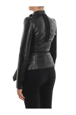 Peplum leather biker jacket