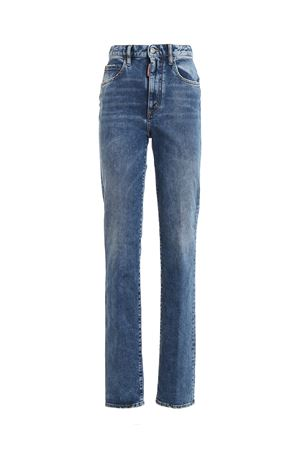 Jeans in denim con logo in tessuto DSQUARED2 | 20000005 | S75LB0193S30663470