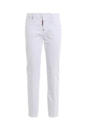 Jeans Cool Girl in denim bianco S75LB0225S39781100 DSQUARED2 | 20000005 | S75LB0225S39781100