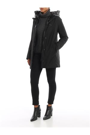 Toggle coat with detachable double front