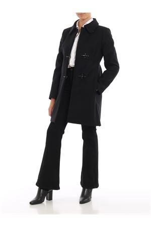 Cappotto nero a tre ganci in misto lana FAY | 18 | NAW50393070RCPB999