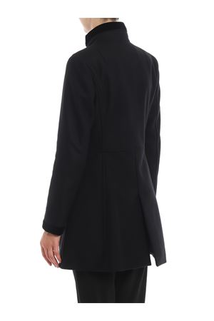 Virginia three-hook black coat