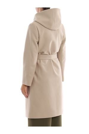 Wool and cashmere hooded coat