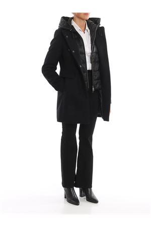 Cappotto nero con double front e cappuccio FAY | 17 | NAW59393430RCPB999
