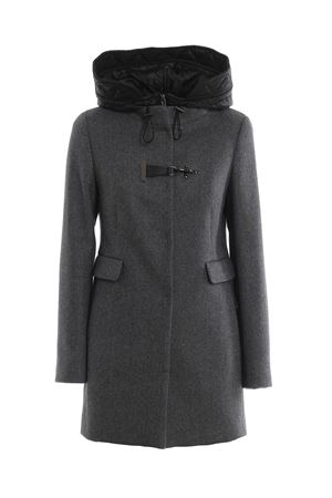 Toggle double front hooded coat