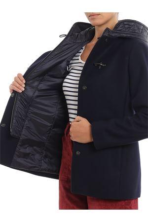 Cappotto blu con double front e cappuccio FAY | 18 | NAW59393460RCPU807