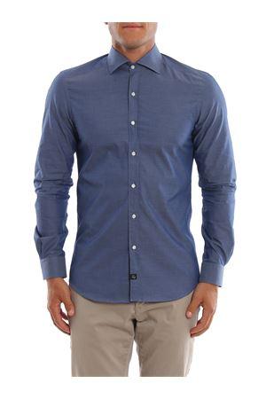 Camicia blu cangiante FAY | 6 | NCMA1392590REUU202