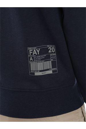 Felpa grigia con cappuccio e zip FAY | -108764232 | NJMB5391320QEHU809