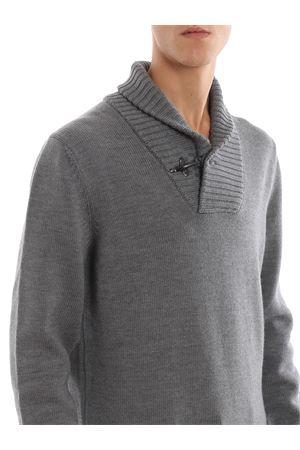 Maglione in lana con collo sciallato FAY | 7 | NMMC1391760FJDB607