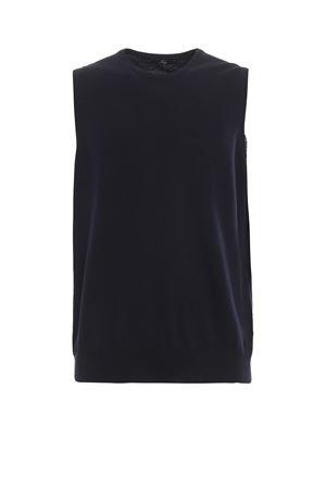 Girocollo smanicato in pura lana blu FAY | 7 | NMMC1392410CQTU807