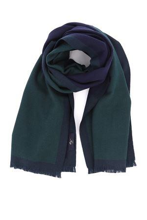 Green and blue wool scarf FAY | 77 | NSMF2392960HFR0G57