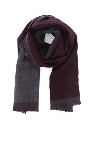 Dark purple and grey wool scarf FAY | 77 | NSMF2392960HFR199U