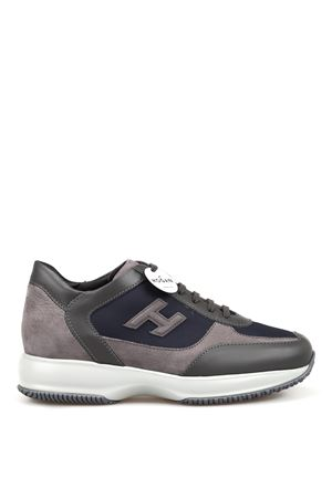 New Interactive grey and blue sneakers