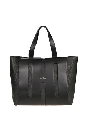 medium black leather tote HOGAN | 31 | KBW015A1300KSYB999
