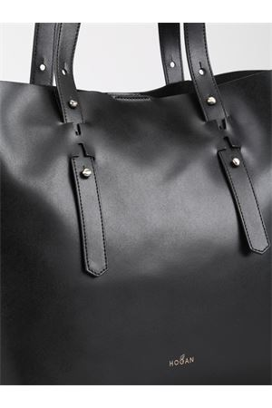 Shopper in pelle liscia nera KBW018A0400J60B999 HOGAN | 31 | KBW018A0400J60B999