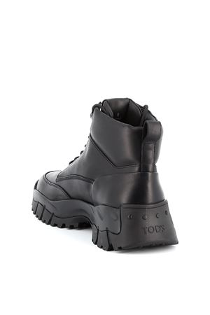 Trekking style leather ankle boots TOD