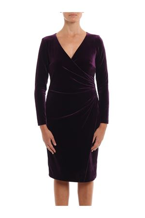 Draped velvet dress