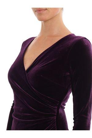 Draped velvet dress RALPH LAUREN | 11 | 250756620002RAISIN