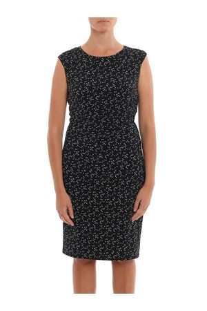PRINTED DRESS IN WHITE AND BLACK RALPH LAUREN | 11 | 250767993001BLACK/COLONIAL CREAM