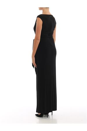 Jewel detail jersey long dress
